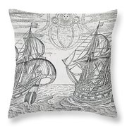 Arctic Phenomena From Gerrit De Veer S Description Of His Voyages Amsterdam 1600 Throw Pillow