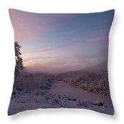Arctic Sunrise Throw Pillow