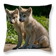 Arctic Wolf Pictures 346 Throw Pillow