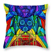 Arcturian Conjunction Grid Throw Pillow