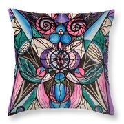 Arcturian Healing Lattice  Throw Pillow