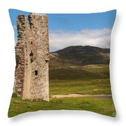 Ardvreck Castle Landscape Throw Pillow
