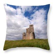 Ardvreck Castle Portrait Throw Pillow