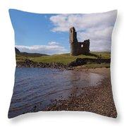 Ardvreck Castle Scotland Throw Pillow
