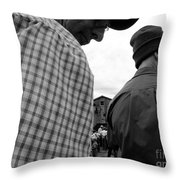 Are We Blocking Your View ? Throw Pillow
