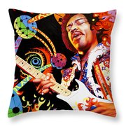 Jimi Hendrix Are You Experienced Throw Pillow
