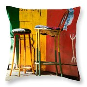 Are You Sitting Comfortably Throw Pillow