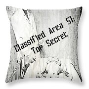 Area 51 Declassified Throw Pillow