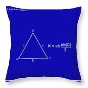 Area Of An Isosceles Triangle Dk Blue/wht Throw Pillow