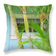Areca Palms At The Window Throw Pillow