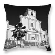 Arecibo Church And Plaza B W 2 Throw Pillow