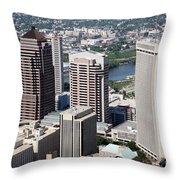 Arena District Columbus Ohio Throw Pillow