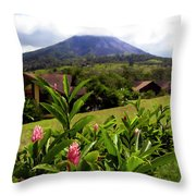 Arenal Costa Rica Throw Pillow