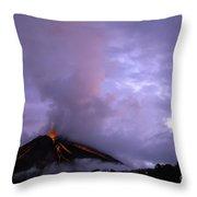 Arenal Volcano Throw Pillow