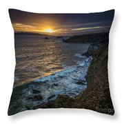 Ares Estuary Mouth Galicia Spain Throw Pillow