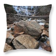 Arethusa Falls Throw Pillow by Catherine Reusch Daley