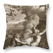 Arethusa Pursued By Alpheus And Turned Throw Pillow