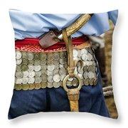 Argentina Gaucho Coin Belt Throw Pillow