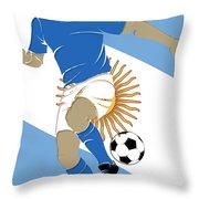 Argentina Soccer Player3 Throw Pillow