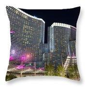 Aria Light - Aria Resort And Casino At Citycenter In Las Vegas Throw Pillow