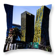 Aria Towers Throw Pillow
