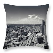Arial View Of Calgary Facing West Throw Pillow