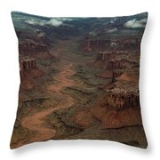 Ariel Photograph During A Spring Storm Throw Pillow