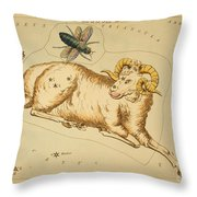 Aries Constellation Zodiac Sign 1825 Throw Pillow by Science Source