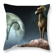 Aries Zodiac Symbol Throw Pillow