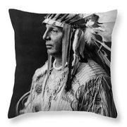 Arikara Indian Man Circa 1908 Throw Pillow by Aged Pixel