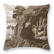 Aristeus Compels Proteus To Reveal Throw Pillow