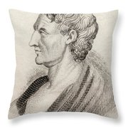 Aristotle From Crabbes Historical Dictionary Throw Pillow