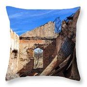 Arivaca Ruins Throw Pillow