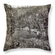 Arizona Apache Lake, 1873 Throw Pillow