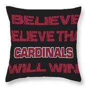 Arizona Cardinals I Believe Throw Pillow