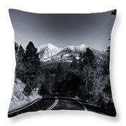 Arizona Country Road In Black And White Throw Pillow
