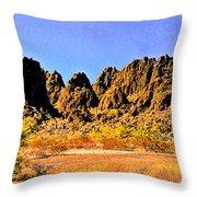 Arizona Panorama Organ Pipe Throw Pillow