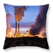 Arizona Power Plant Throw Pillow