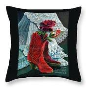 Arizona Rose Throw Pillow