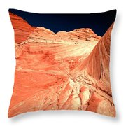 Arizona Sandstone Waves And Lines Throw Pillow