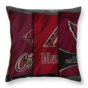 Arizona Sports Teams Throw Pillow