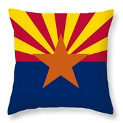 Arizona State Flag Authentic Color And Scale Version Throw Pillow
