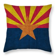 Arizona State Flag Throw Pillow by Pixel Chimp