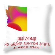 Arizona State Map Collection 2 Throw Pillow