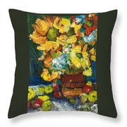 Arizona Sunflowers Throw Pillow by Sherry Harradence