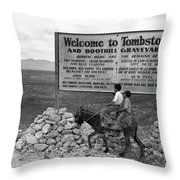Arizona Tombstone, 1937 Throw Pillow