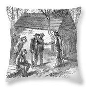 Arkansas Hot Springs, 1878 Throw Pillow