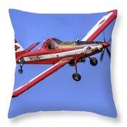 Arkansas Razorbacks Air Tractor Throw Pillow