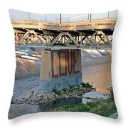 Arkansas River Walk Throw Pillow