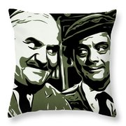 Arkwright And Granville Throw Pillow